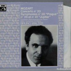 "Discos de vinilo: 2 LP. WALTER. MOZART CONCERTO NO 20. SYMPHONIES NO 38 ""PRAGUE"". NO 39 ET NO 41 ""JUPITER"". Lote 289741003"