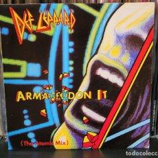 Discos de vinilo: DEF LEPPARD ARMAGEDDON IT (THE ATOMIC MIX) SINGLE - EXCELENTE ESTADO VER FOTOS. Lote 289746743
