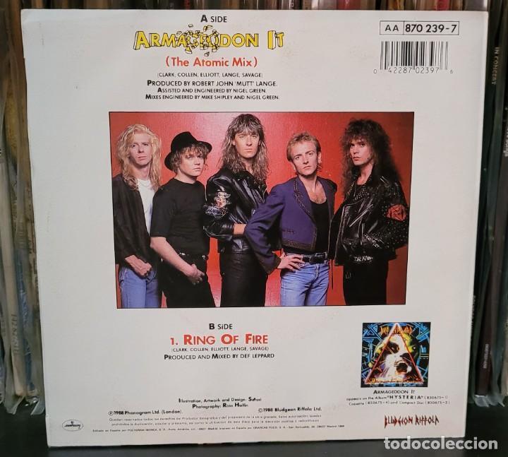 Discos de vinilo: DEF LEPPARD ARMAGEDDON IT (THE ATOMIC MIX) SINGLE - EXCELENTE ESTADO VER FOTOS - Foto 2 - 289746743