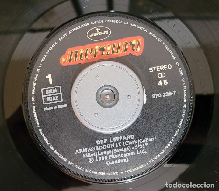 Discos de vinilo: DEF LEPPARD ARMAGEDDON IT (THE ATOMIC MIX) SINGLE - EXCELENTE ESTADO VER FOTOS - Foto 3 - 289746743
