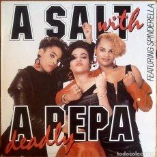 Discos de vinilo: SALT 'N' PEPA : A SALT WITH A DEADLY PEPA [ESP 1988] LP. Lote 289752063