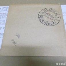 Discos de vinilo: JUEGO PROHIBIDO (SINGLE) QUE DIFICIL ES AÑO – 1992 – PROMOCIONAL + HOJA PROMOCIONAL. Lote 289762488