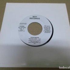 Discos de vinilo: SYNTHESIS (SINGLE) WALKING AWAY AÑO – 1991 – PROMOCIONAL. Lote 289762793