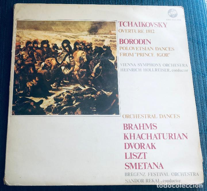 TCHAIKOVSKY, BORODIN, BRAHMS, DVORAK, LISZT, SMETANA, KHACHATURIAN. 2 LPS. DISCOS MARFER. 1982. (Música - Discos - LP Vinilo - Clásica, Ópera, Zarzuela y Marchas)