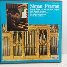 Discos de vinilo: CAJA-ÁLBUM / SIMON PRESTON / CUATRO SIGLOS DE MÚSICA PARA ORGANO / 3 VINILOS + LIBRETO / DE LUJO.. Lote 289796403