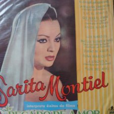 Discos de vinilo: SARA MONTIEL LP SELLO HISPAVOX EDITADO EN BRASIL DE LA PELÍCULA PECADO DE AMOR.... Lote 289798288