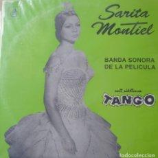 Discos de vinilo: SARA MONTIEL LP SELLO HISPAVOX EDITADO EN CHILE DE LA PELÍCULA MI ÚLTIMO TANGO.... Lote 289799363
