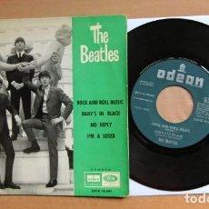 Discos de vinilo: BEATLES SINGLE EP EDICION LABEL VERDE ORIGINAL EMI ODEON ESPAÑA 1964 MUY BUENA CONSERVACION. Lote 289803498