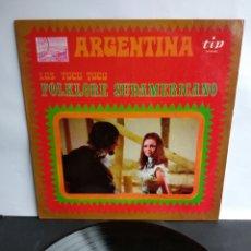 Discos de vinilo: LOS TUCU TUCU, FOLKLORE SUDAMERICANOS, 1970. Lote 289805498