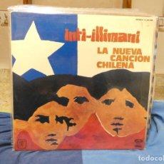 Discos de vinilo: LP INTI ILLIMANI LA NUEVA CANCION CHILENA MOVIEPLAY BUEN ESTADO GATEFOLD. Lote 289812753