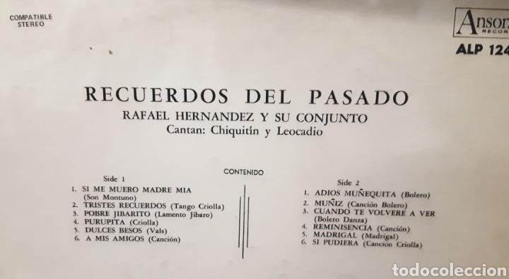 Discos de vinilo: MUSICA GOYO - LP - RAFAEL HERNÁNDEZ (EL JIBARITO) Y SU CONJUNTO - RECUERDOS DEL PASADO - AA99 - Foto 2 - 289817238