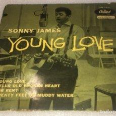 Discos de vinilo: EP SONNY JAMES - YOUNG LOVE Y OTROS TEMAS - CAPITOL EAP1.827 - PEDIDO MINIMO 7€. Lote 289833463