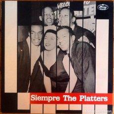 Discos de vinilo: THE PLATTERS : SIEMPRE THE PLATTERS [ESP 1988] LP/COMP. Lote 289839308