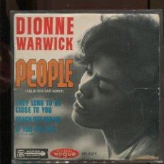 Discos de vinilo: DIONNE WARWICK. PEOPLE. ETC. EP VOGUE FRANCE. Lote 289844618