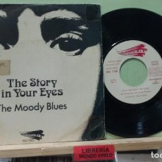 Discos de vinilo: THE MOODY BLUES. THE STORY IN YOUR EYES. THRESHOLD 1971, REF. MO 1165 -- SINGLE. Lote 289871333