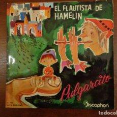 Discos de vinilo: EL FLAUTISTA DE HAMELIN / PULGARCITO - CUENTOS SONOROS - 1960. Lote 289874268