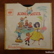Discos de vinilo: BLANCANIEVES - CUENTOS SONOROS - AÑOS 60 - ED. MÉXICO - FORMABA PARTE DE UN LIBRO. Lote 289874563