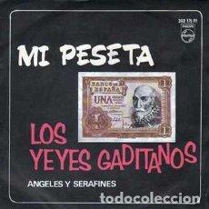 Discos de vinilo: SINGLE, LOS YEYES GADITANOS. MI PESETA, ANGELES Y SERAFINES. SINGLE-8943. Lote 289875043