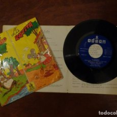 Discos de vinilo: LOS CHIVITOS Y EL LOBO / LA RATITA - CUENTOS SONOROS - 1961. Lote 289876438