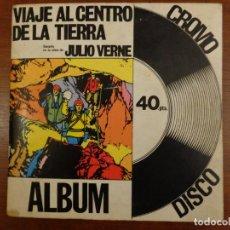 Discos de vinilo: VIAJE AL CENTRO DE LA TIERRA - JULIO VERNE - CUENTOS SONOROS - LIBRO ÁLBUM DE CROMOS - DISCO - 1969. Lote 289877653