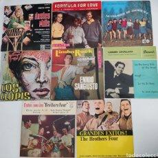 Discos de vinilo: LOTE 8 DISCOS LOS LLOPIS FORMULA FOR LOVE HAYLEY MILLS THE BROTHERS FOUR ENNIO SANGIUSTO .... Lote 289878543