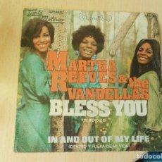 Discos de vinilo: MARTHA REEVES & THE VANDELLAS, SG, BLESS YOU + 1, AÑO 1972. Lote 289882178