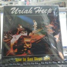 Discos de vinilo: URIAH HEEP LP LIVE ON SAN DIEGO 1974 PRECINTADO. Lote 289882393
