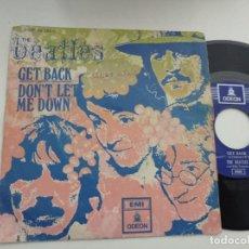 Discos de vinilo: SINGLE-THE BEATLES-GET BACK-1969-SPAIN-. Lote 289884808