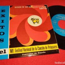 Discos de vinilo: LOS SANCHOS DE PEDRO MUÑOZ +SECCION FEMENINA MIERES EP 1971 PROMO CANCION PRIMAVERA ALCAZAR SAN JUAN. Lote 289885853