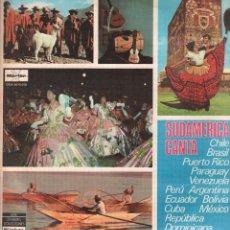 Discos de vinilo: SUDAMERICA CANTA - CHILE, BRASIL, PUERTO RICO, PARAGUAY.../ DOBLE LP MARFER 1978 RF-10441. Lote 289885938
