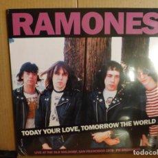 Discos de vinilo: RAMONES ---- TODAY YOUR LOVE,TOMOROW THE WORLD - NUEVO. Lote 289889818
