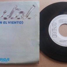 Discos de vinilo: CRISTAL / CON EL VIENTO / SINGLE 7 PULGADAS. Lote 289891198