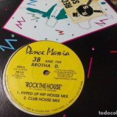 Discos de vinilo: MX. 3B AND THE BROTHA D. - ROCK THE HOUSE. Lote 289895913
