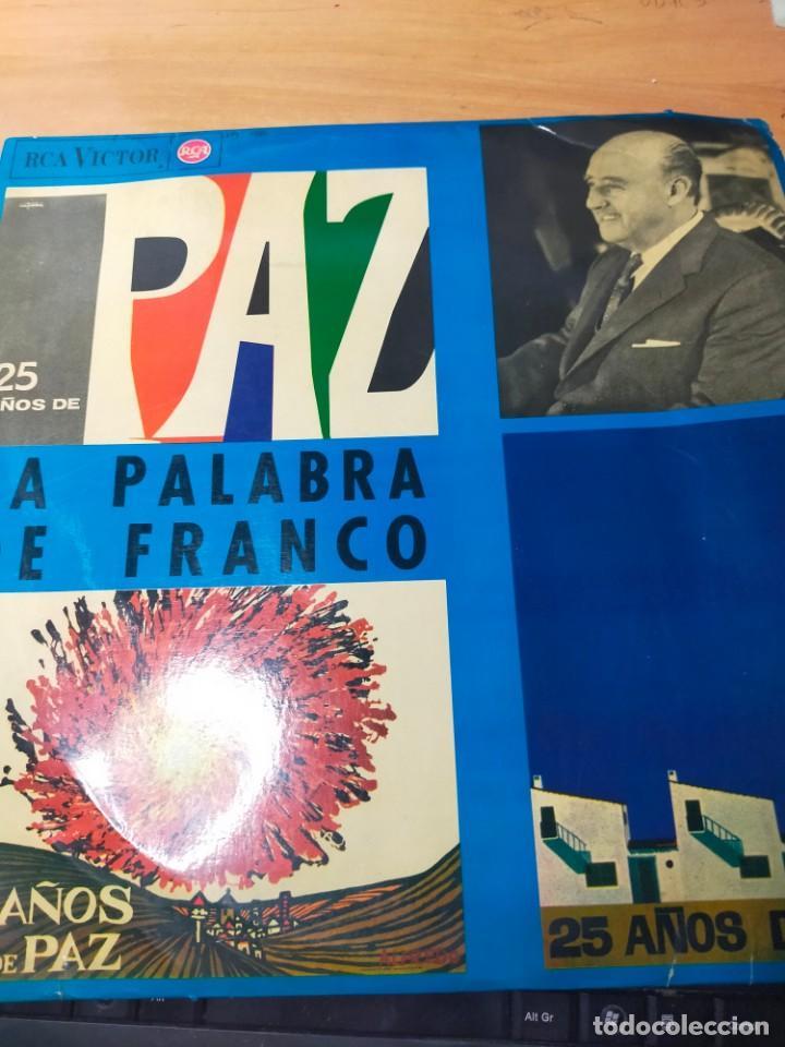 DISCO 25 AÑOS DE PAZ LA PALABRA DE FRANCO AÑO 1964 DISCO (Música - Discos de Vinilo - Maxi Singles - Otros estilos)