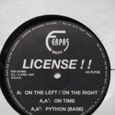 Discos de vinilo: LICENSE!! – ON THE LEFT, ON THE RIGHT. Lote 289917368