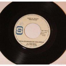 Discos de vinilo: REALES BRASS DE COLOMBIA - TODO AL REVES / LA CHIVA, 45RPM, VINILO.. Lote 289948488