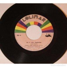 Discos de vinilo: JOSE DABOIN CON LA DIMENSION VALLENATA - TU Y YO / NO ME DEJES SOLO, 45RPM, VINILO. Lote 289948518