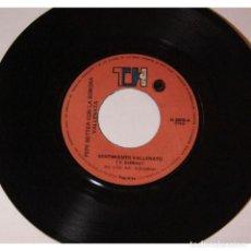 Discos de vinilo: PEPE BETTER CON LA SONORA VALLENATA - SENTIMIENTO VALLENATO / MATRIMONIO, 45RPM, VINILO. Lote 289952253