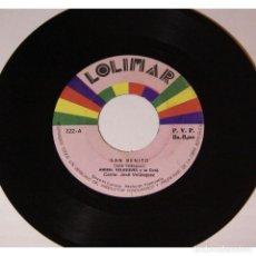 Discos de vinilo: ANIBAL VELASQUEZ Y SU CONJUNTO - SAN BENITO / MI CASA VACIA, 45RPM, VINILO.. Lote 289954083