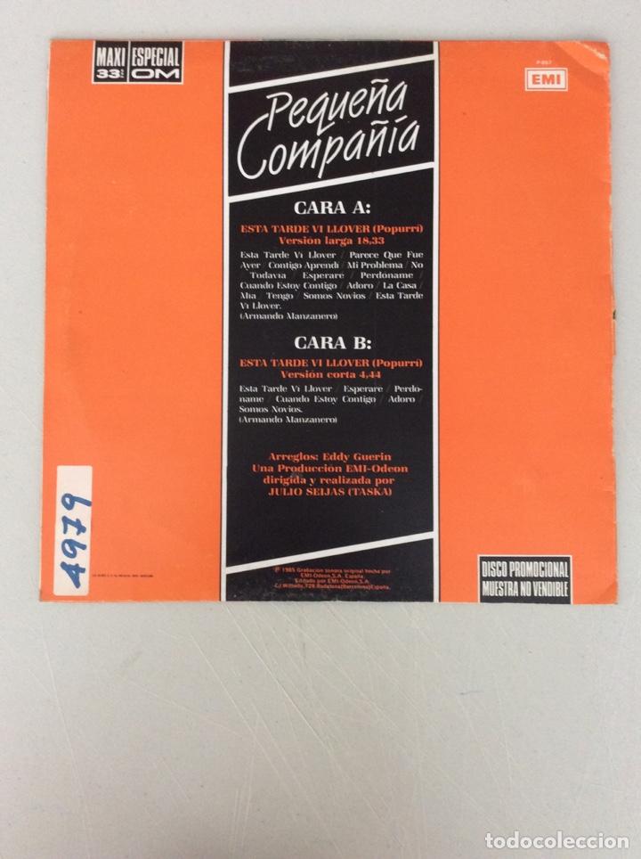 Discos de vinilo: Pequeña Compañía. Esta tarde vi llover - Foto 2 - 290005373