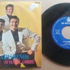 Discos de vinilo: LOS MARISMEÑOS / VIVA EL PERU / SINGLE 7 PULGADAS. Lote 290014533