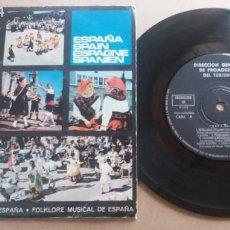 Discos de vinilo: DIRECCION GENERAL DE PROMOCION DEL TURISMO / SEVILLANAS - MUÑEIRA PARA BAILE + 4 / EP 7 PULGADAS. Lote 290016793