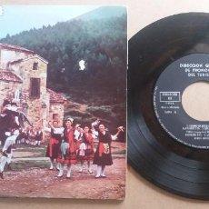 Discos de vinilo: DIRECCION GENERAL DE PROMOCION DEL TURISMO / CAMINO DEL ROCIO - MUÑEIRA + 4 / EP 7 PULGADAS. Lote 290016968
