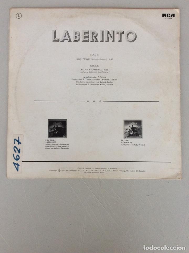 Discos de vinilo: Que pasa! Salud y libertad. Laberinto - Foto 2 - 290020138