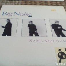 Discos de vinilo: MX. BIG NOISE - NAME AND NUMBER. Lote 290047438
