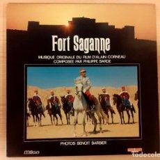 Discos de vinilo: FORT SAGANNE PHILIPPE SARDE MILAN RECORDS 1984 ALBUM FOTOS COLOR COMO NUEVO!!!. Lote 290057333