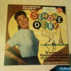 Discos de vinilo: SIMONE DEBY, EP, TE QUIERO ASÍ + 3, AÑO 1959. Lote 290062258