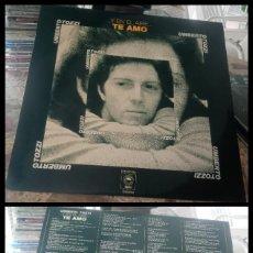 Discos de vinilo: D. LPS. UMBERTO TOZZI, Y EN EL AIRE, TEAMO. CON SU FUNDA DE PLASTICO.. Lote 290079508