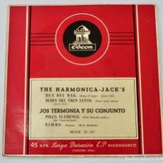 Discos de vinilo: THE HARMONICA-JACK´S. JOS TERMONIA Y SU CONJUNTO. EP. CUATRO TEMAS. 45 R.P.M. ODEÓN. BARCELONA. Lote 290086973