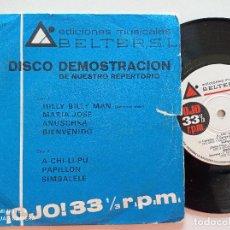 Discos de vinilo: BELTER DISCO DEMOSTRACION 18 - EP 1970 // GIORGIO MORODER LA TERREMOTO UDO JURGENS ELENA ... Lote 290096533